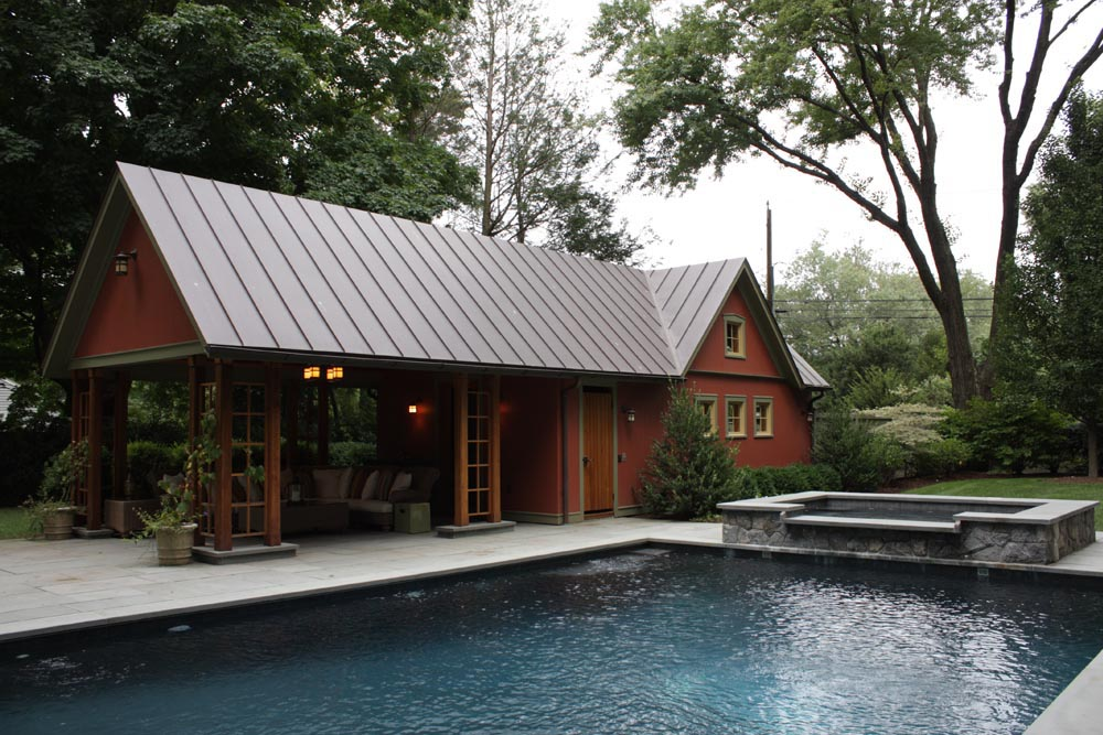 David preusch architect for Garage pool house